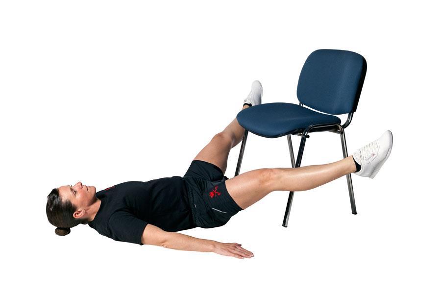 Leg raises chair exercise ()