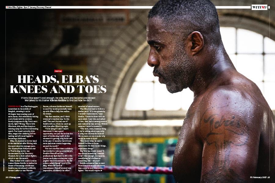 FS magazine 2017 Idris Elba kick boxing ()