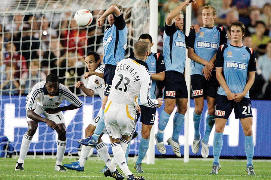 David Beckham free kick ()