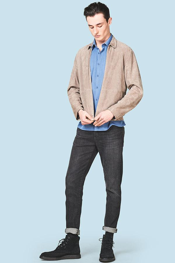 Suede sports jacket with skinny jeans FS magazine ()