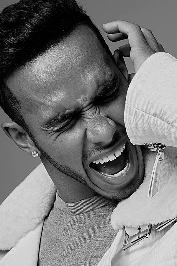 Lewis Hamilton fashion shoot screaming ()