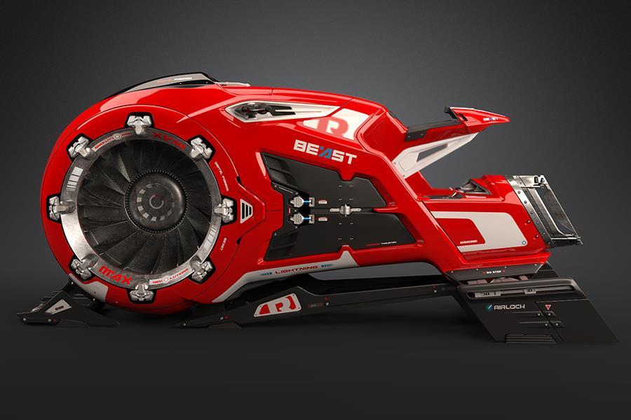 The Beast flying bike ()
