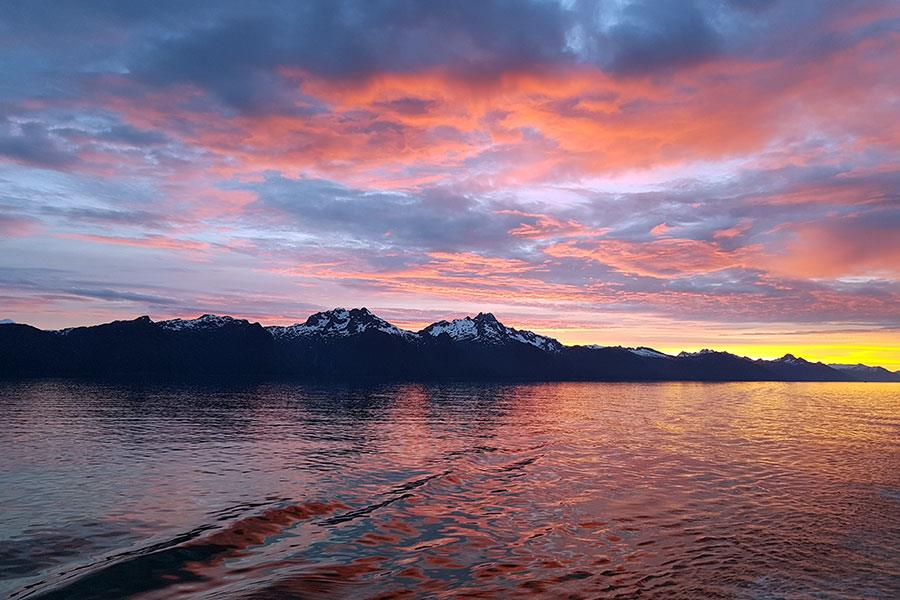 Sunset in Alaska from a Royal Caribbean Cruise ship Radiance of the Seas ()