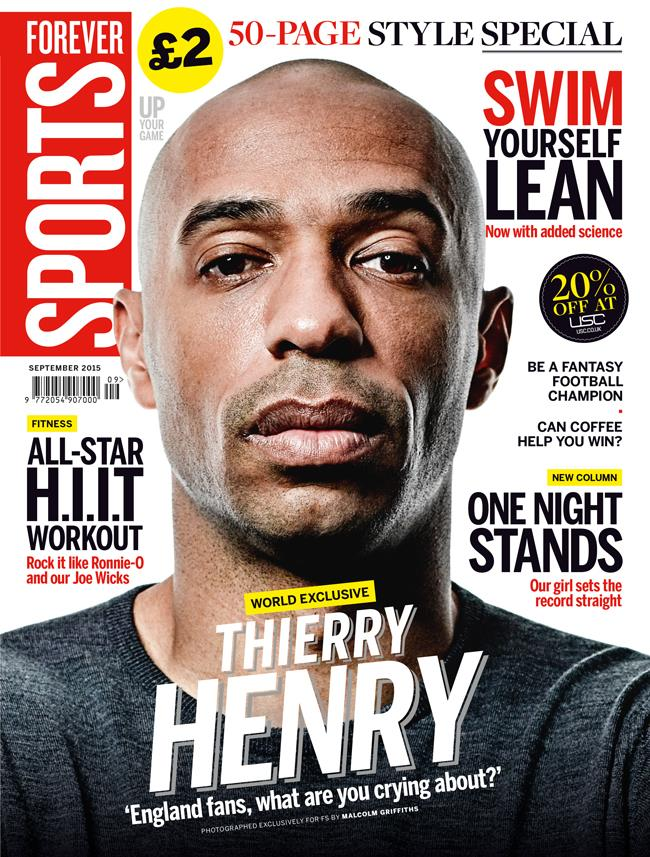 FS magazine cover September 2015 Thierry Henry ()