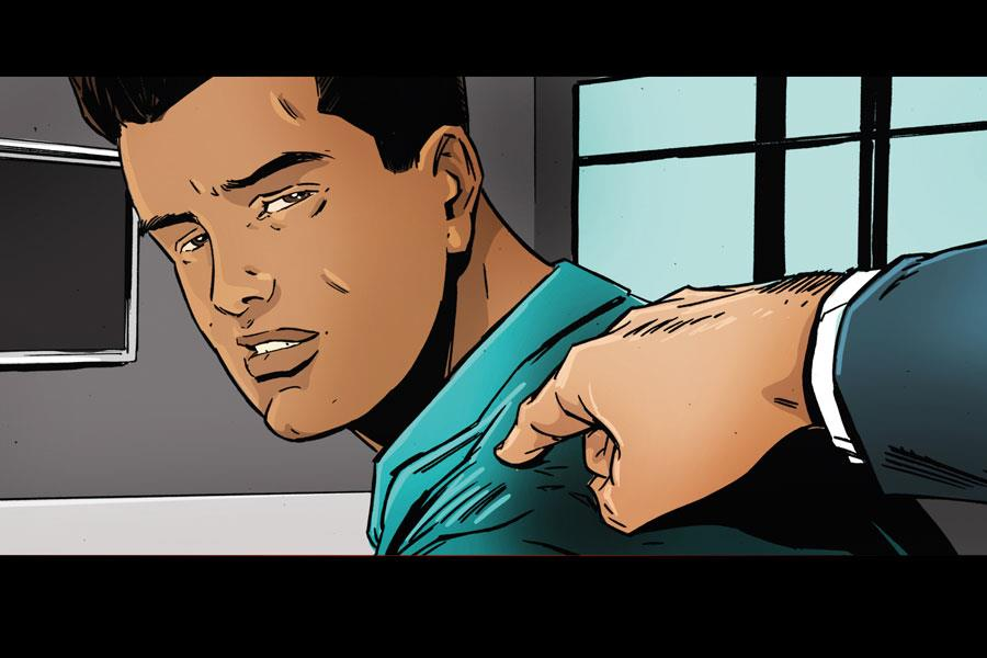 Tony Schiena shoulder tap illustration ()
