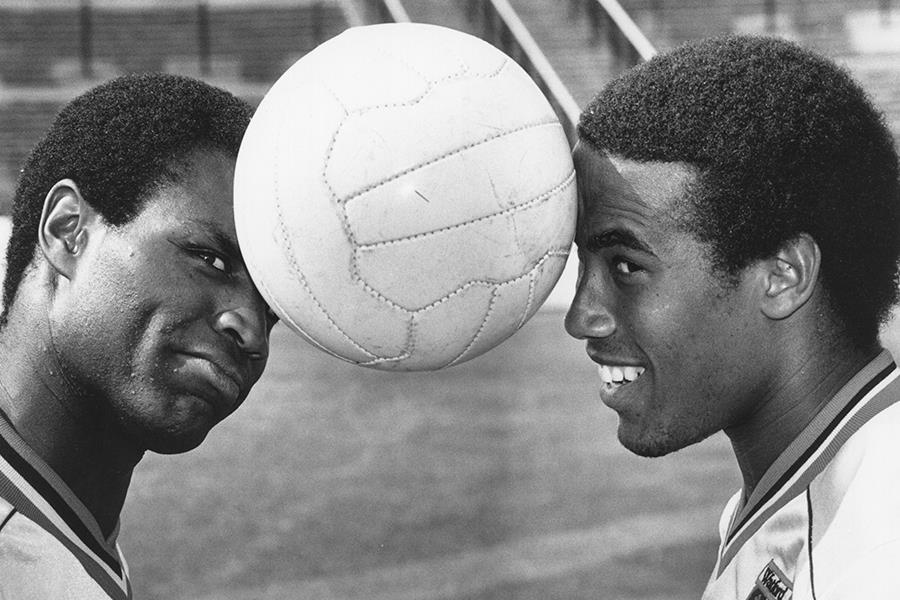 John Barnes and Luther Blisset with football (Getty Images)