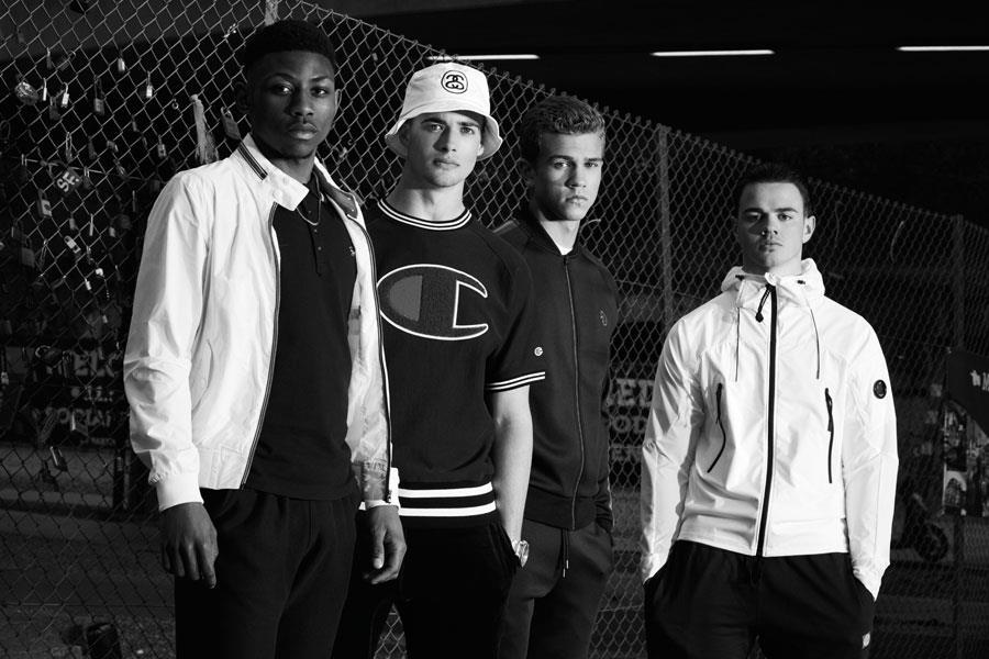 Rian McLean, Michael Clark, Sam Telling, Sam Roach fashion shoot ()