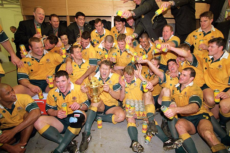 Australian rugby team celebrate world cup victory (Getty Images)