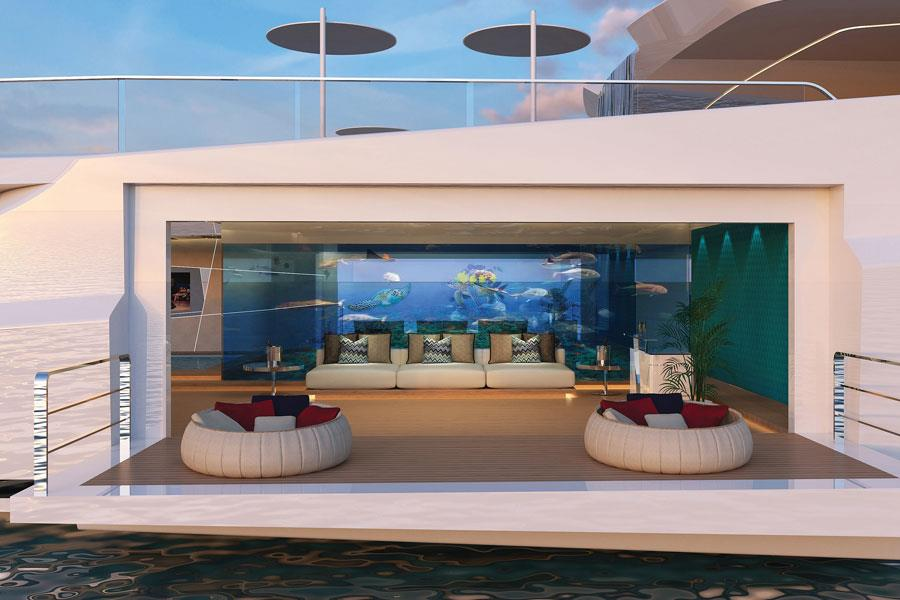 Shaddai Superyacht Swimming platform ()