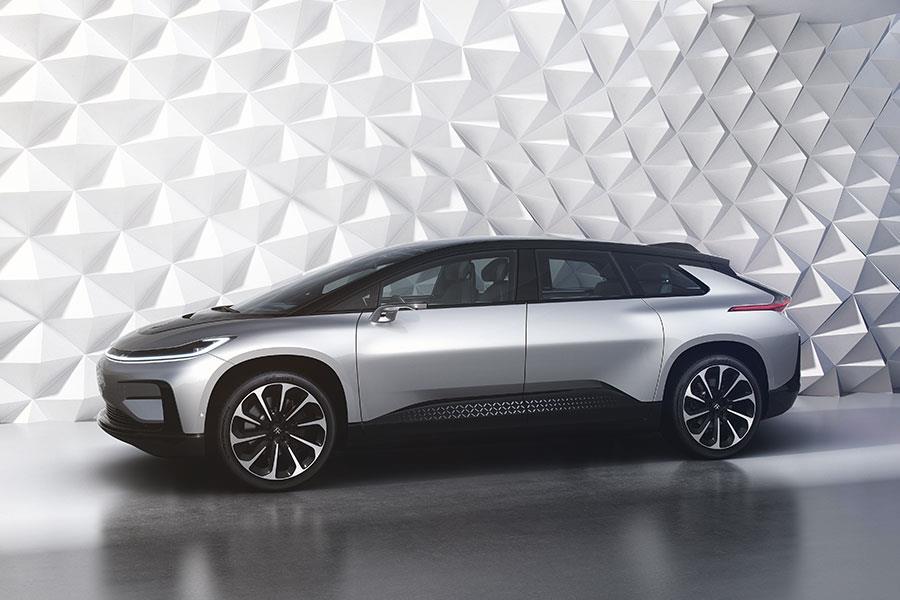 Faraday Future FF 91 side view ()