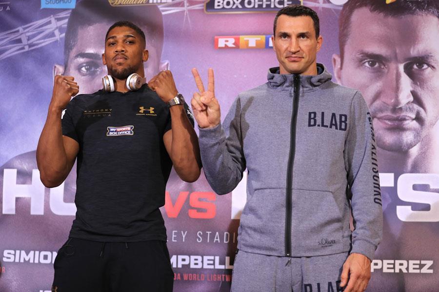 Wladimir Klitschko and Anthony Joshua press conference ()