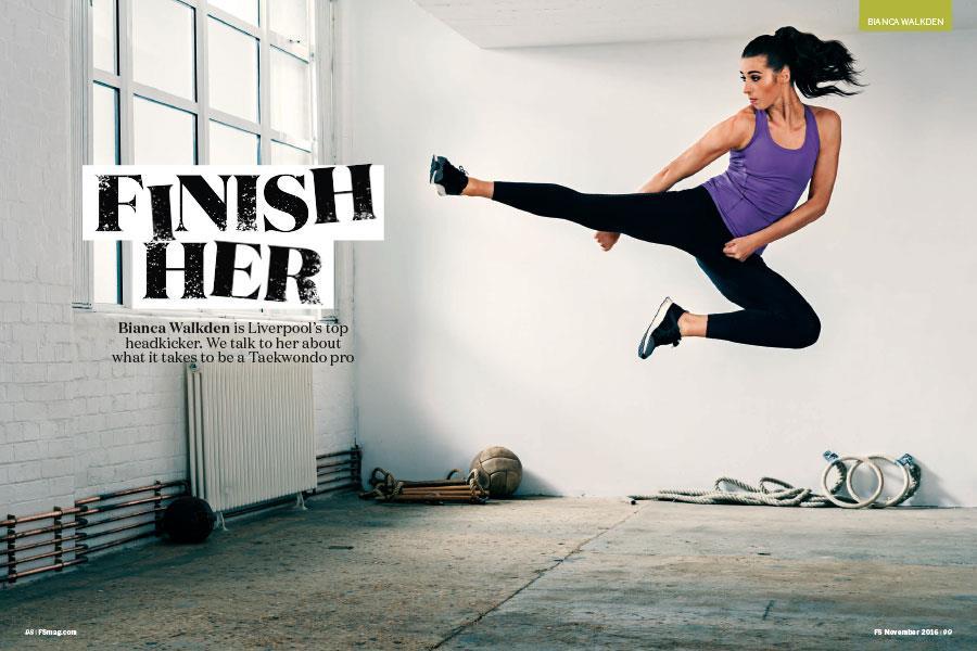 Bianca Walkden FS magazine photoshoot ()