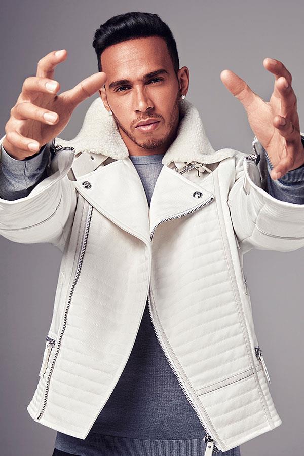 Lewis Hamilton fashion white jacket ()