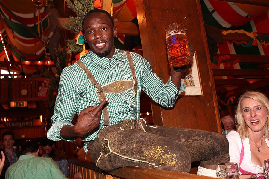 Usain Bolt at OktoberFest ()