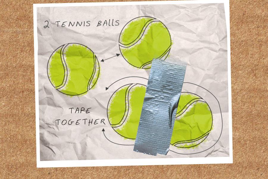 Tennis ball muscle roller ()