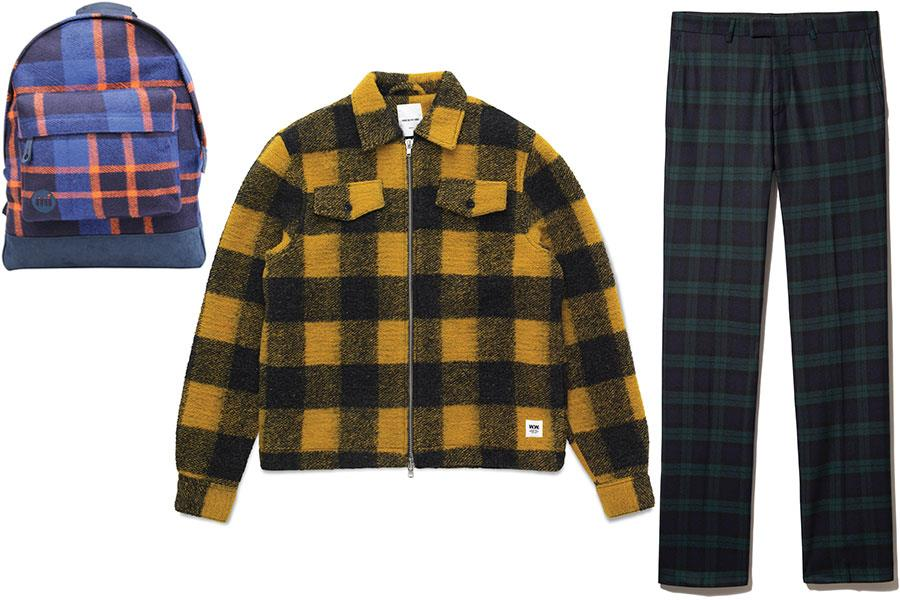 Checked coat wood wood, checked rucsac MiPac, Checked trousers Noose and monkey at House of Fraser ()