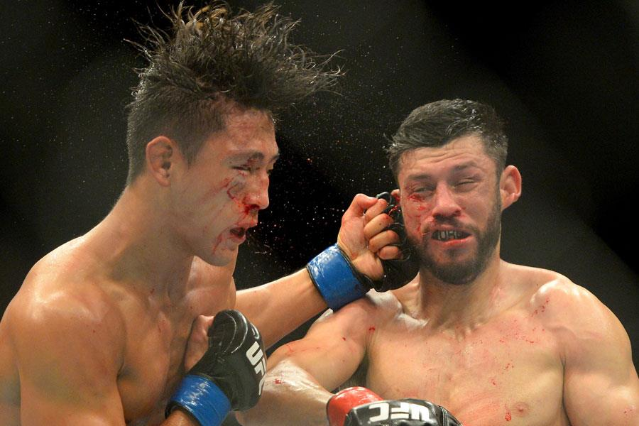 UFC bloody faced fighting ()