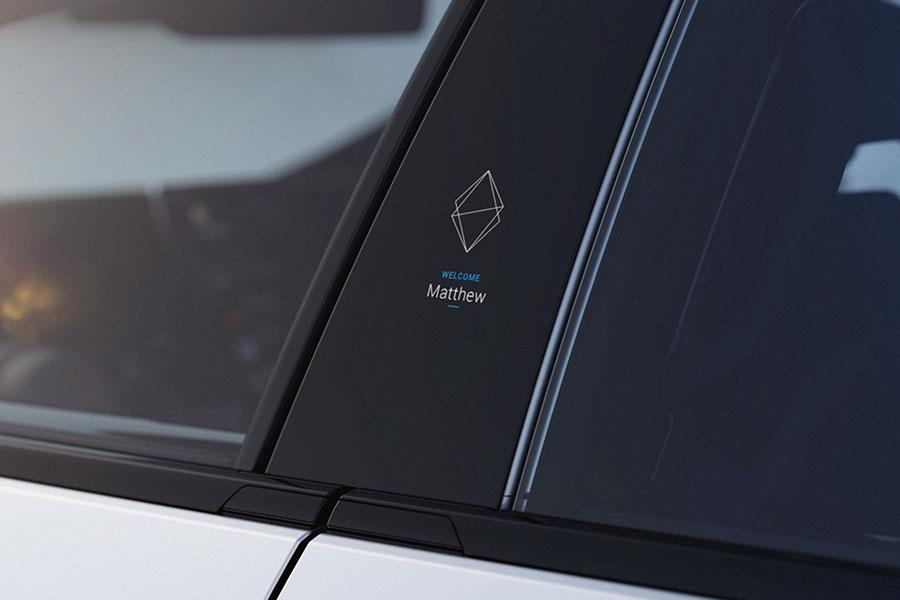 Faraday Future FF 91 door pillar display ()