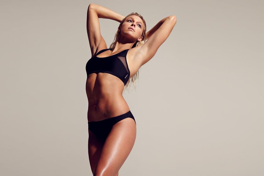 Tonia Couch swimwear photoshoot for FS magazine (Ben Riggott)