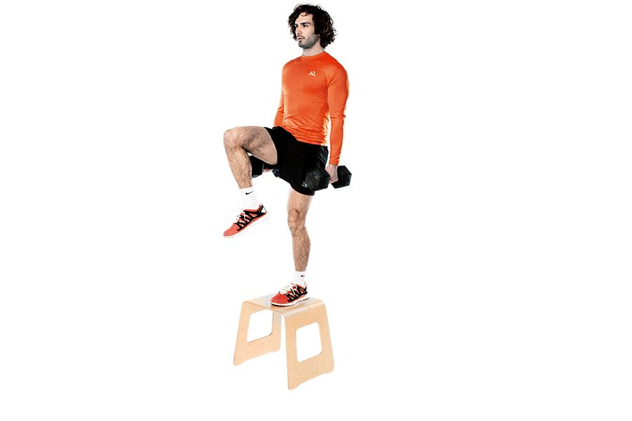 Joe Wicks' dumbbell box step-up workout ()
