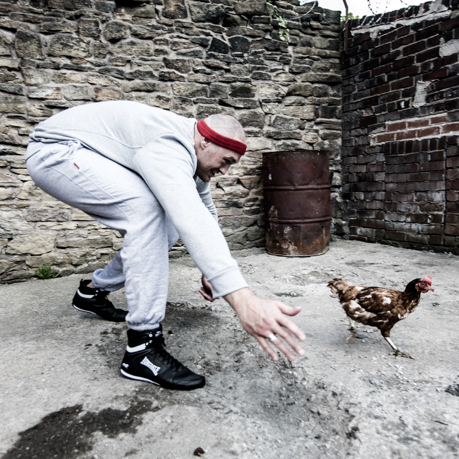Tyson Fury chasing a chicken in a Rocky-style training montage (Malcolm Griffiths)