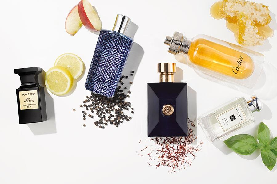 Men's fragrance ingredients; Tom Ford, Cartier, Versace, Jo Malone, The merchant of venice ()