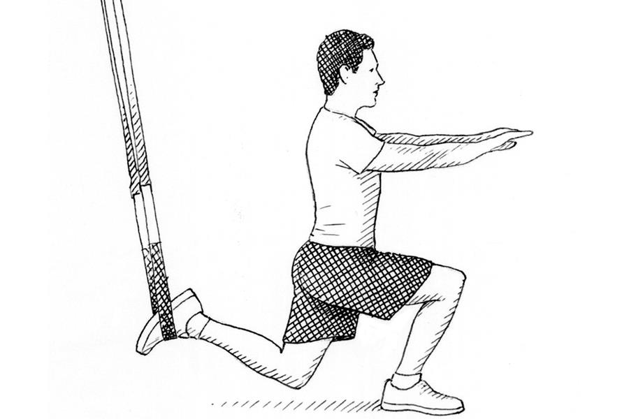 Lunge TRX suspension exercise ()