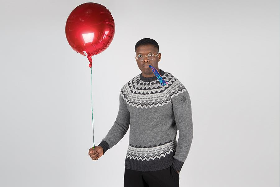 Fair Isle crew knit Moncler at Flannels ()