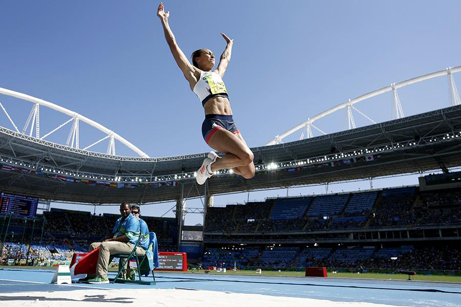 Jessica Ennis-Hill long jump ()
