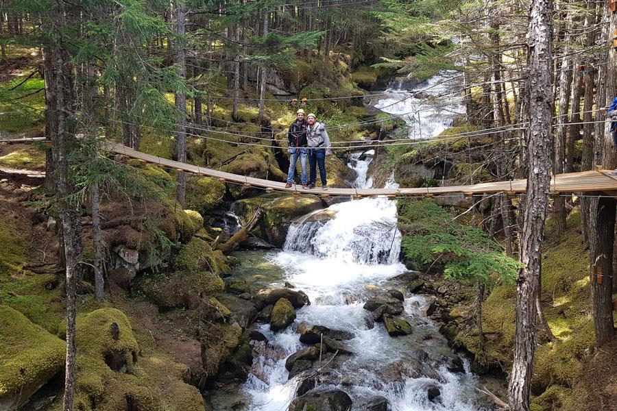 Grizzly falls ziplining in Skagway Alaska ()