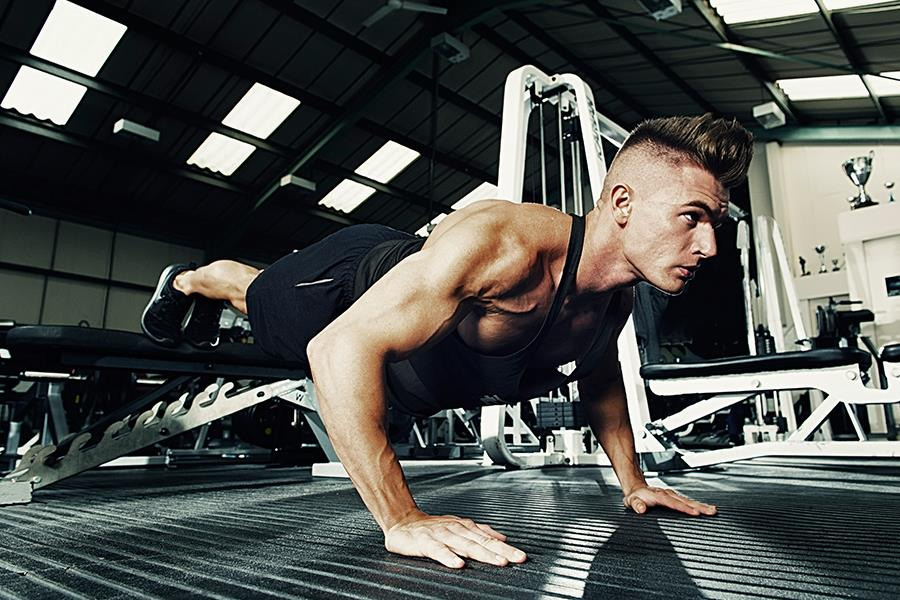 Elevated press-ups ()