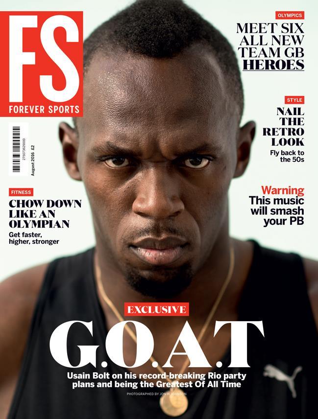 FS magazine August cover Usain Bolt ()