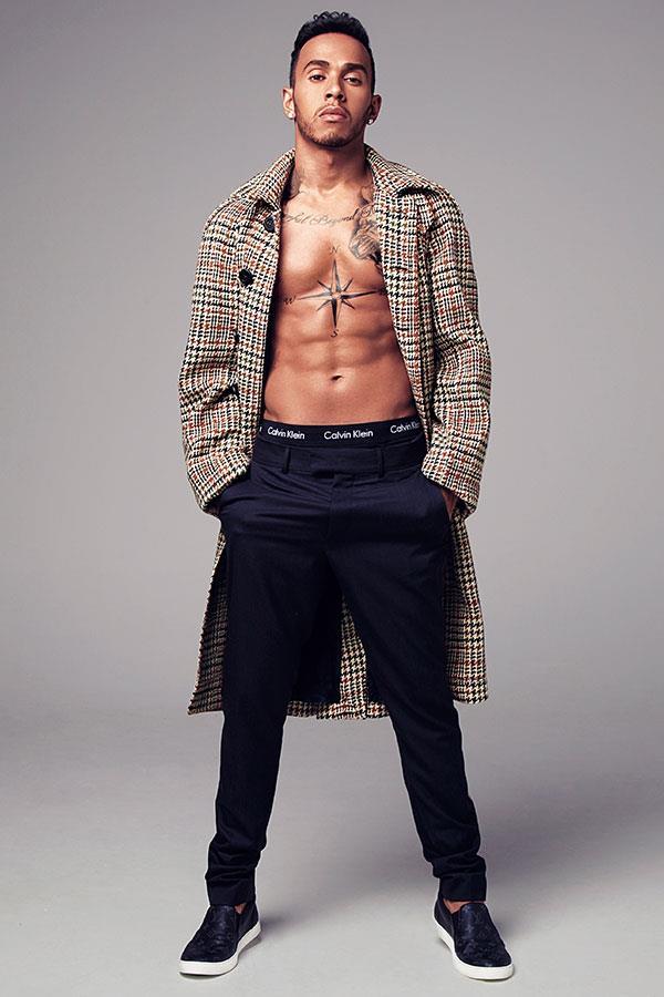 Lewis Hamilton shirtless fashion shoot ()