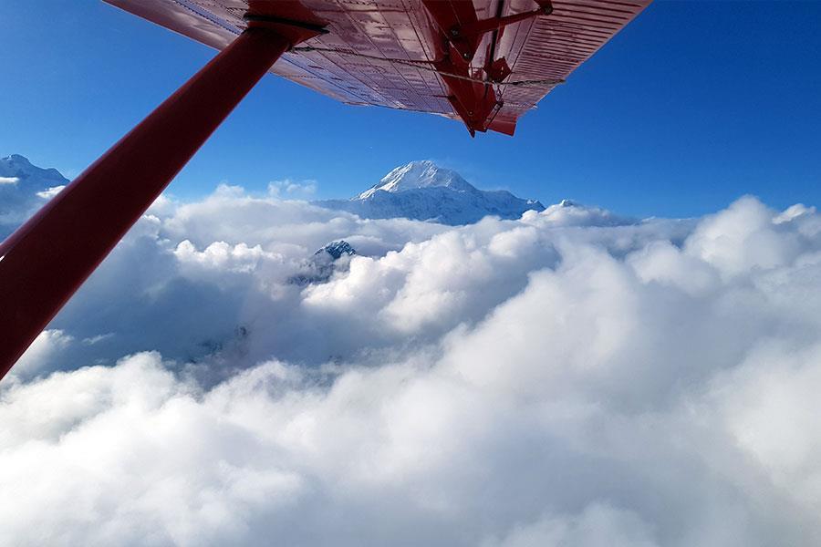 Peak of mount Denali seen from K2 aviation flight ()