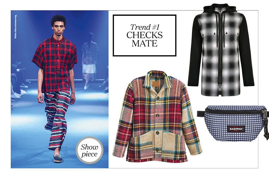 FS magazine men's styler trends spring summer 2017 Checks ()