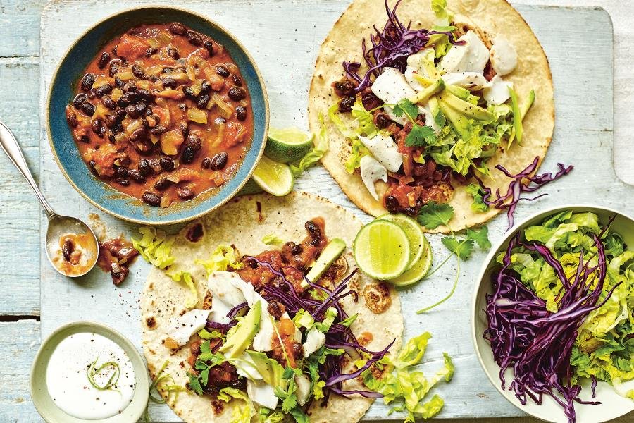 Fish tacos with coconut lime cream (Dan Jones)