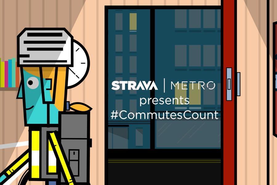 Strava metro #commutescount ()