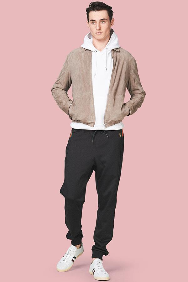 Suede sports jacket with sportswear FS magazine ()