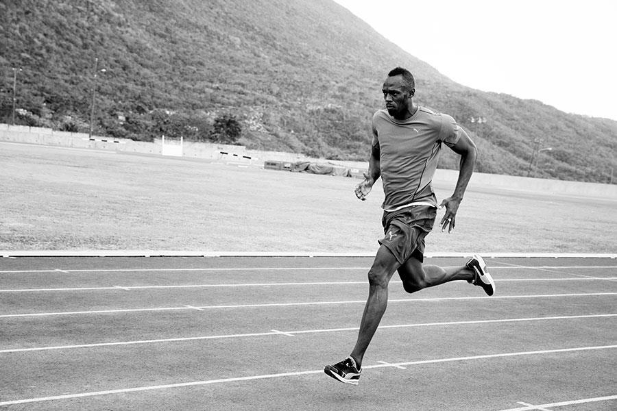 Usain Bolt training ()