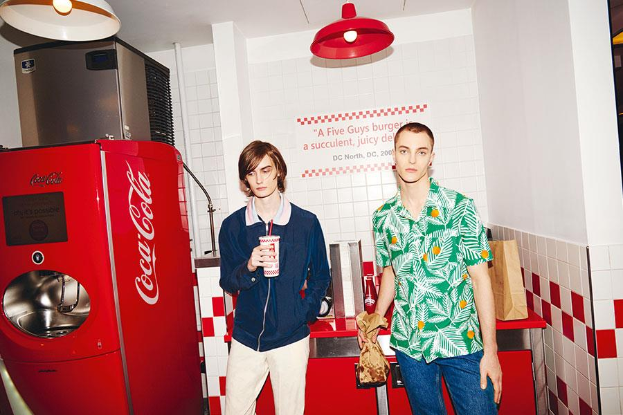 Two guys at Five Guys FS magazine style shoot ()