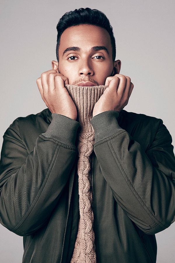 Lewis Hamilton fashion shoot pullover ()