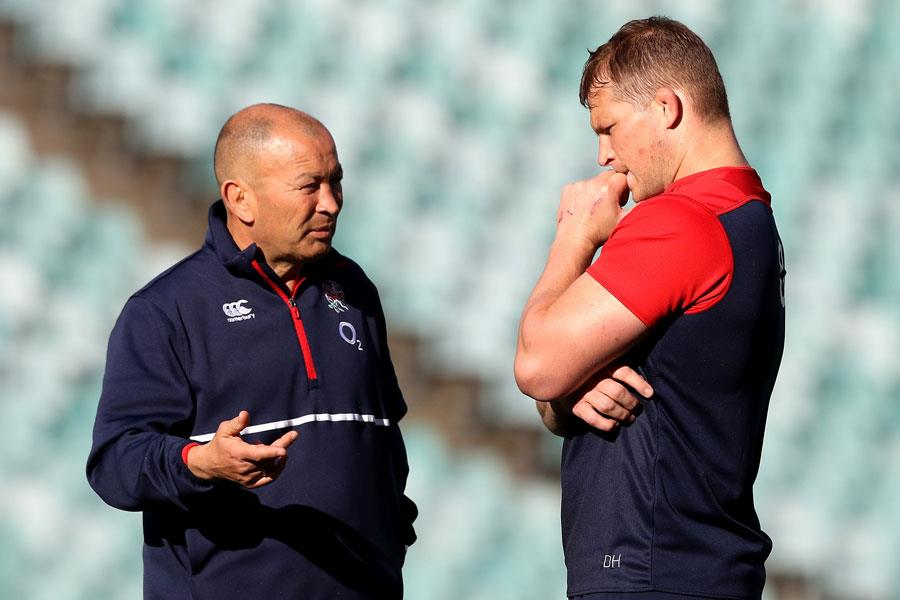 Dylan Hartley and Eddie Jones ()