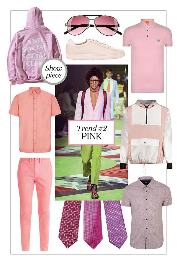 FS magazine men's styler trends spring summer 2017 Pink ()