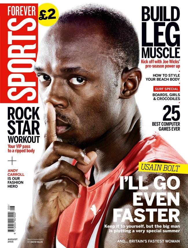FS magazine cover August 2015 Usain Bolt ()