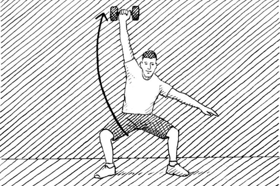 Single-arm snatch technique diagram  (Nick Hardcastle)