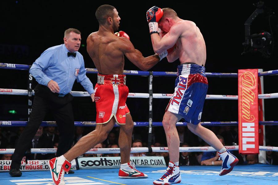 Kell Brook delivers an uppercut ()