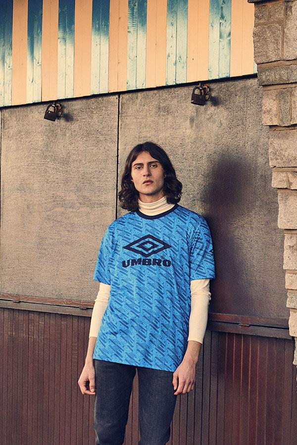 90s menswear fashion shoot in Canvey for FS magazine. Model wearing umbro ()