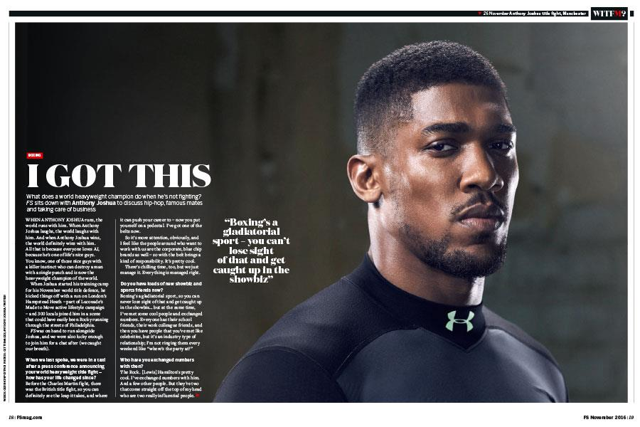 Anthony Joshua FS magazine ()