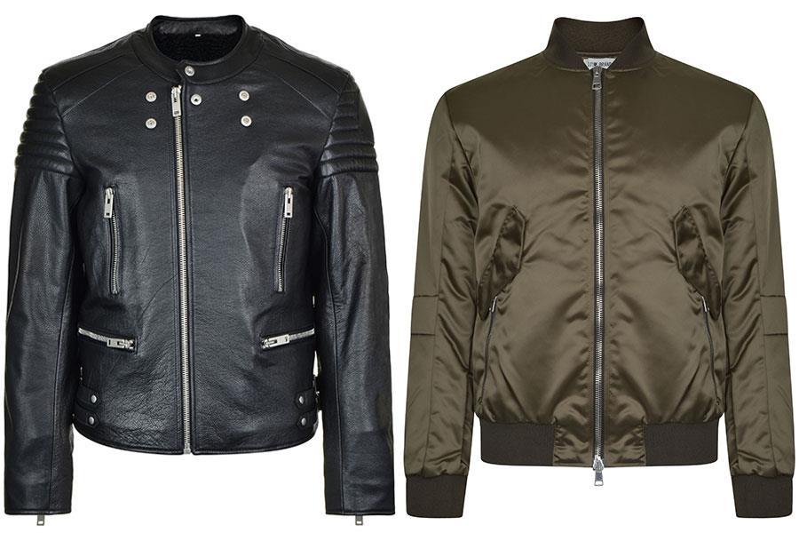 Low brand bomber jacket, Maison Margiela biker leather jacket flannels  ()