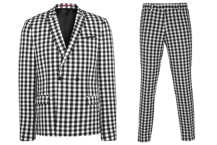 Checkered suit River Island ()